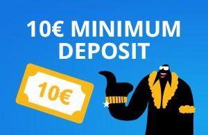 10€ minimum deposit to casino