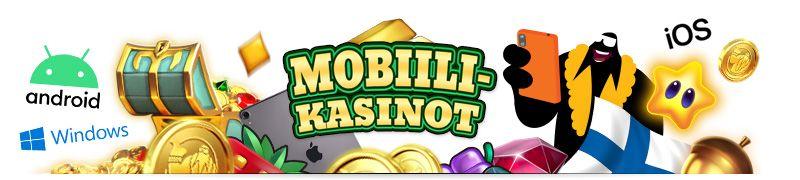 Mobiili kasinot eli mobiililaitteille sovitetut nettikasinot tarjoavat rahapelit ja bonukset mukana Android-, iOS-, ja Windows-käyttöjärjestelmillä
