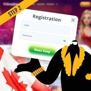 How to use Canadian online casino bonus code Step 2