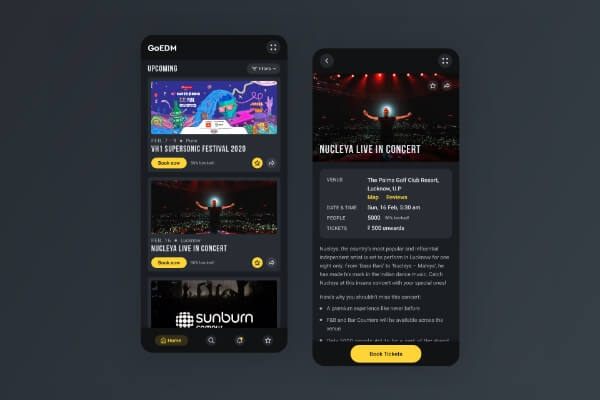 Event booking app