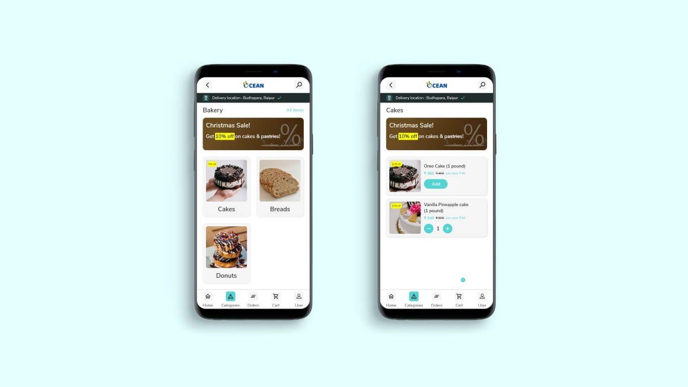 Ocean grocery app