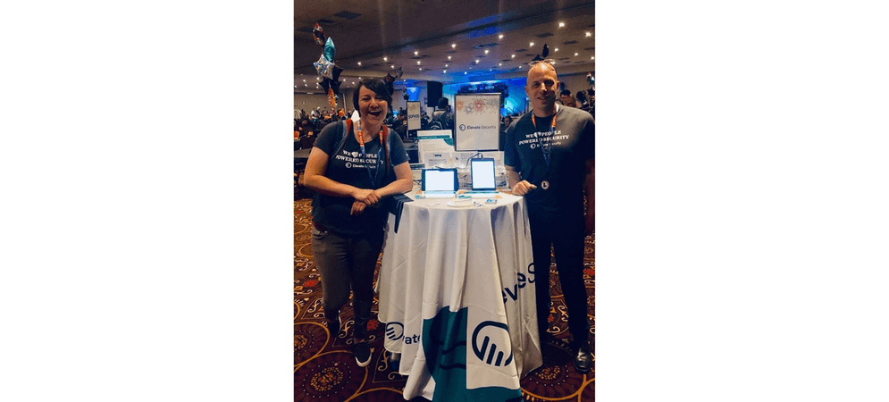 Two Elevate employees at BSides Las Vegas