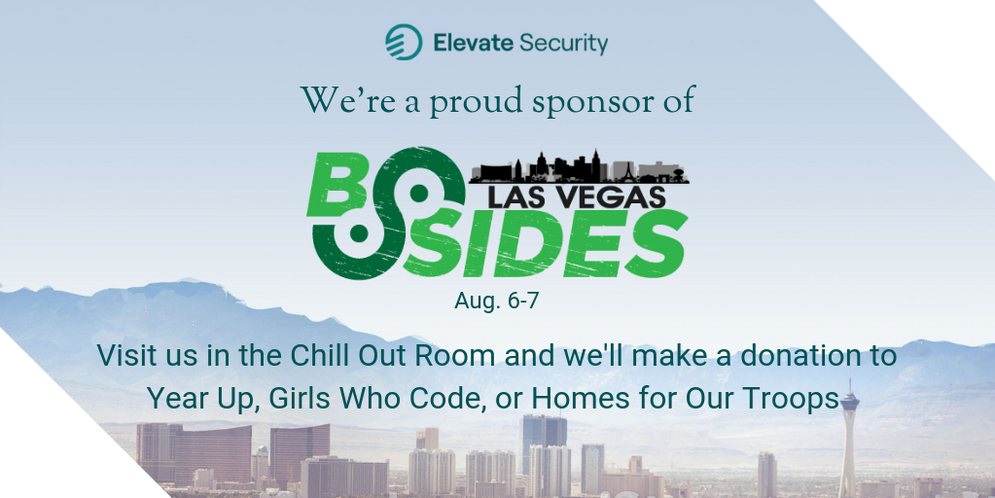 An image promoting Elevate's sponsorship for BSides Las Vegas 2019