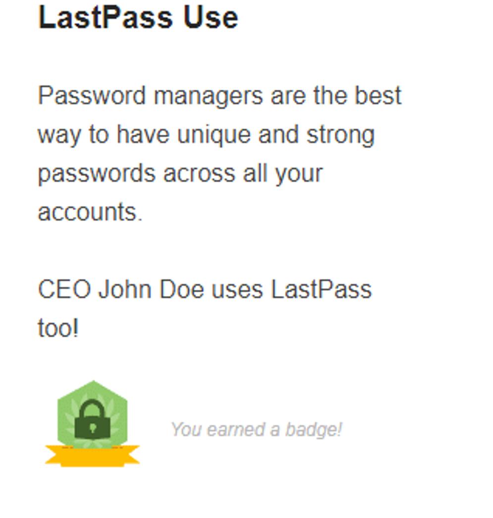 Lastpass use