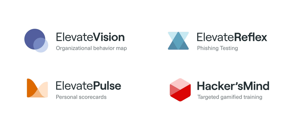 An image showing icons for Elevate's new product naming and branding