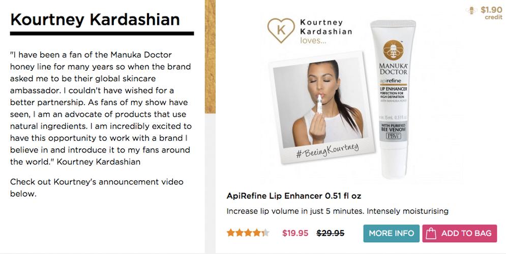 Kourtney Kardashian product