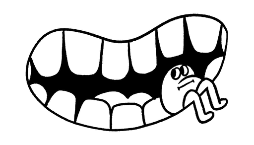 Teeth in a smile