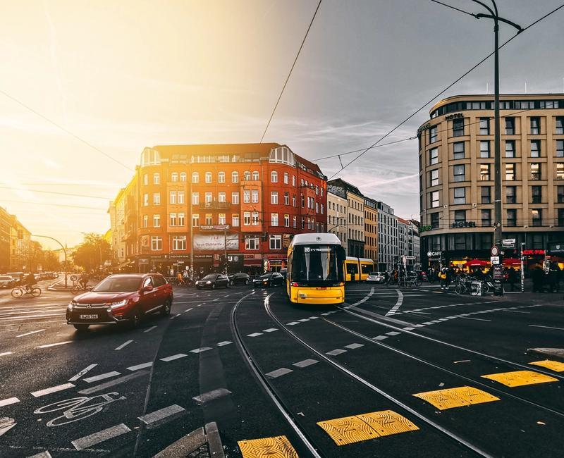 Straßenbahn in Berlin, wofür die Web-App Mein.Berlin entwickelt wurde