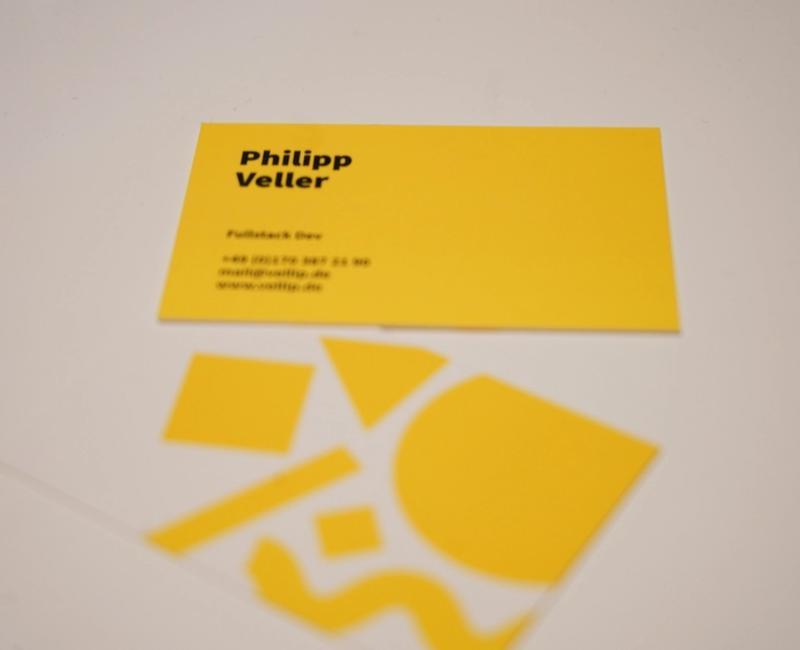 Visitenkarte von Philipp Veller als Webentwickler