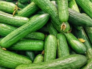 Mange grønne agurker