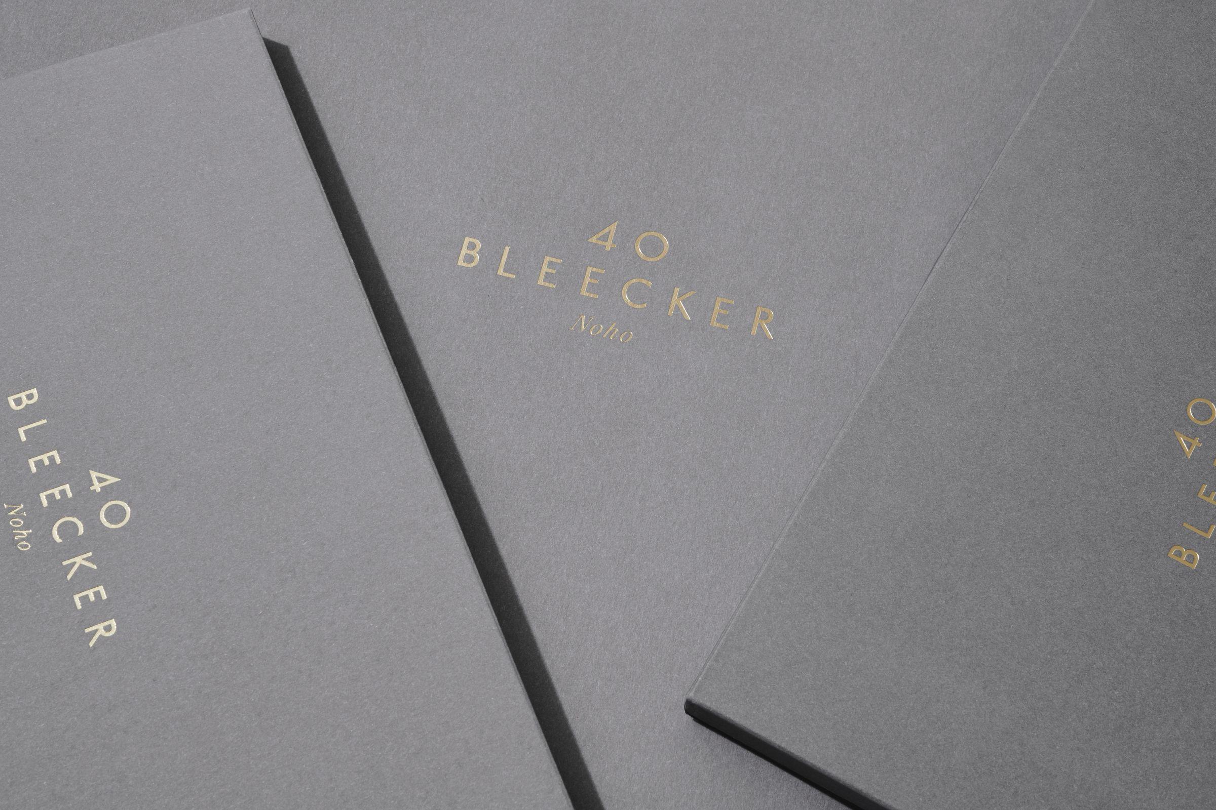 40 Bleecker marketing materials envelope design