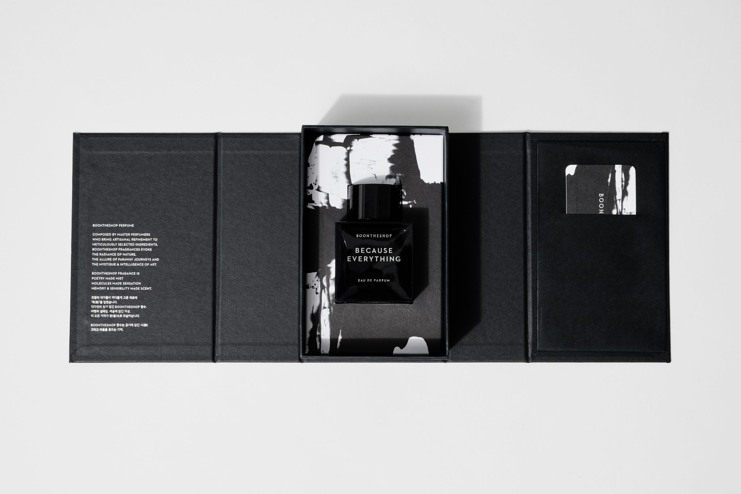 BOONTHESHOP fragrance packaging open