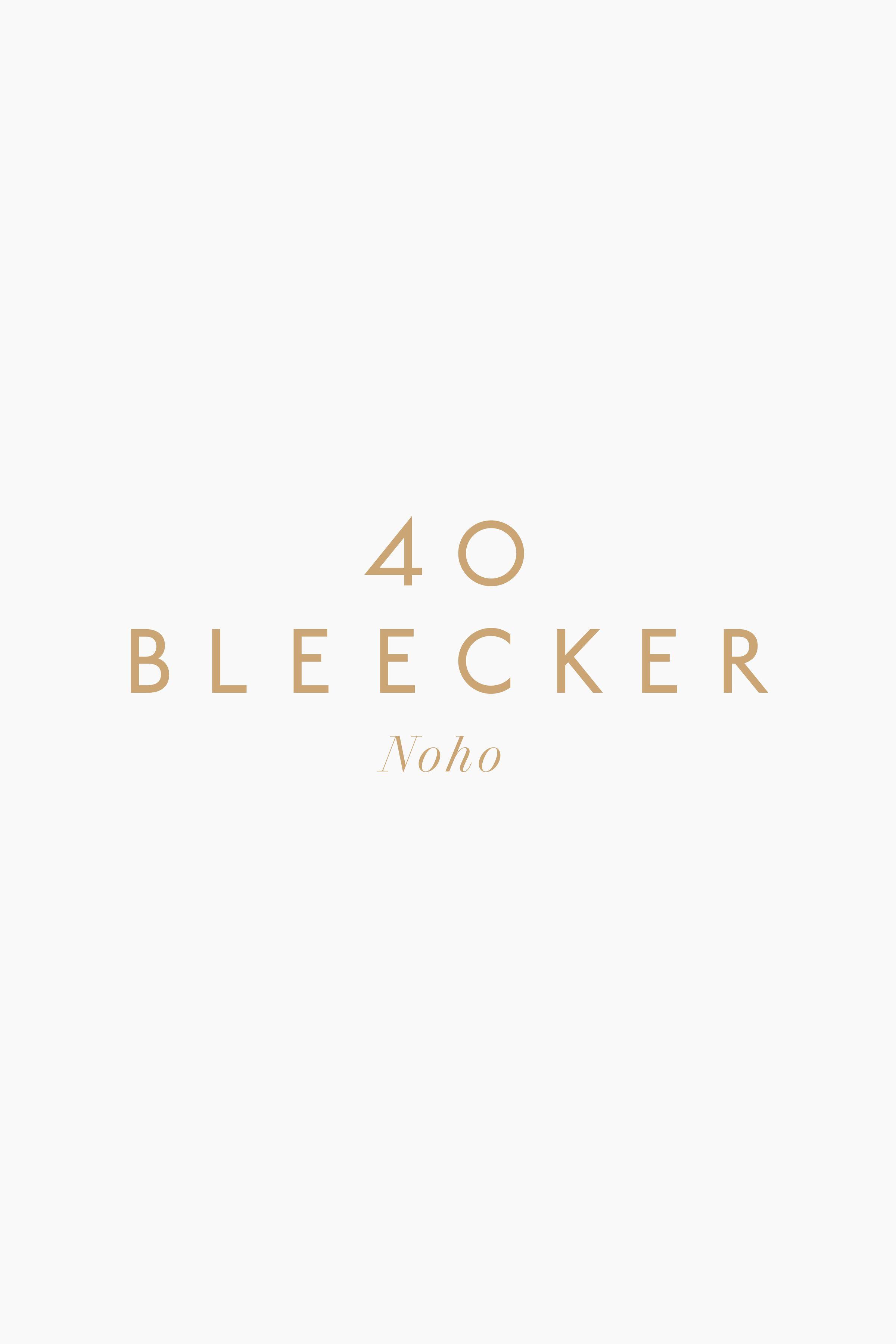 40 Bleecker logo design