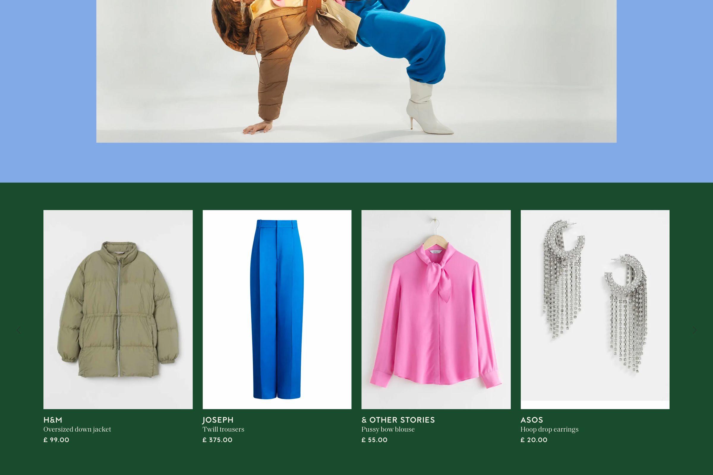 Collagerie website design shop the shoot