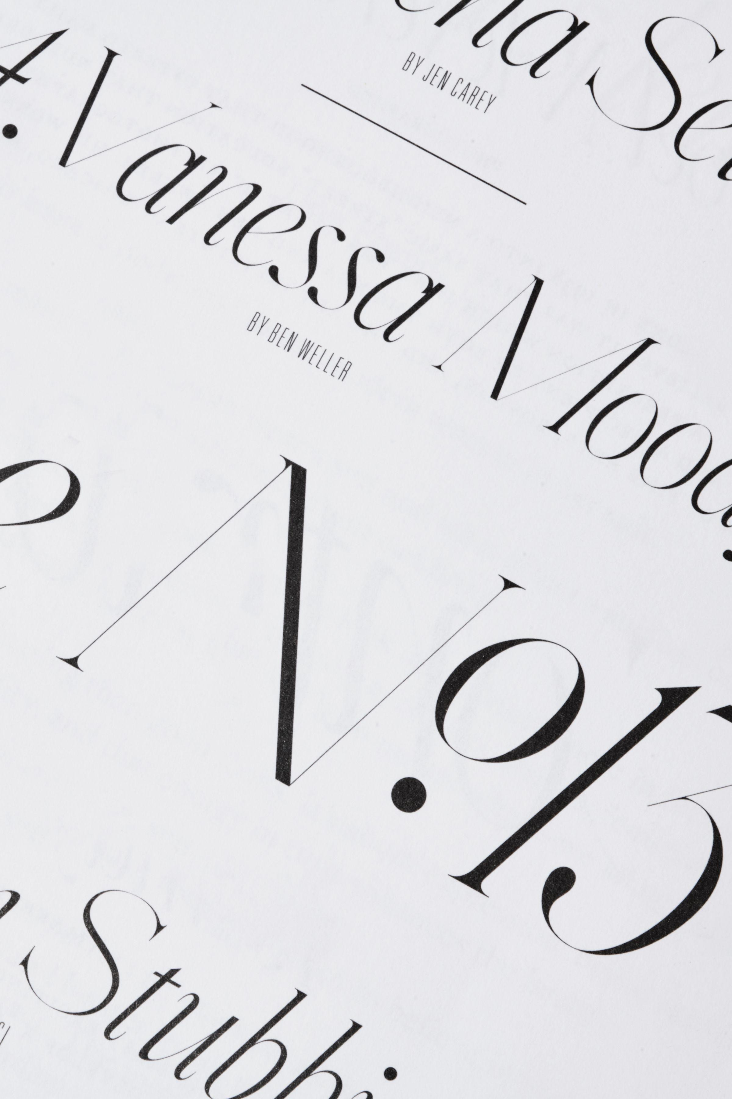Rika Magazine issue no. 13 custom typeface design