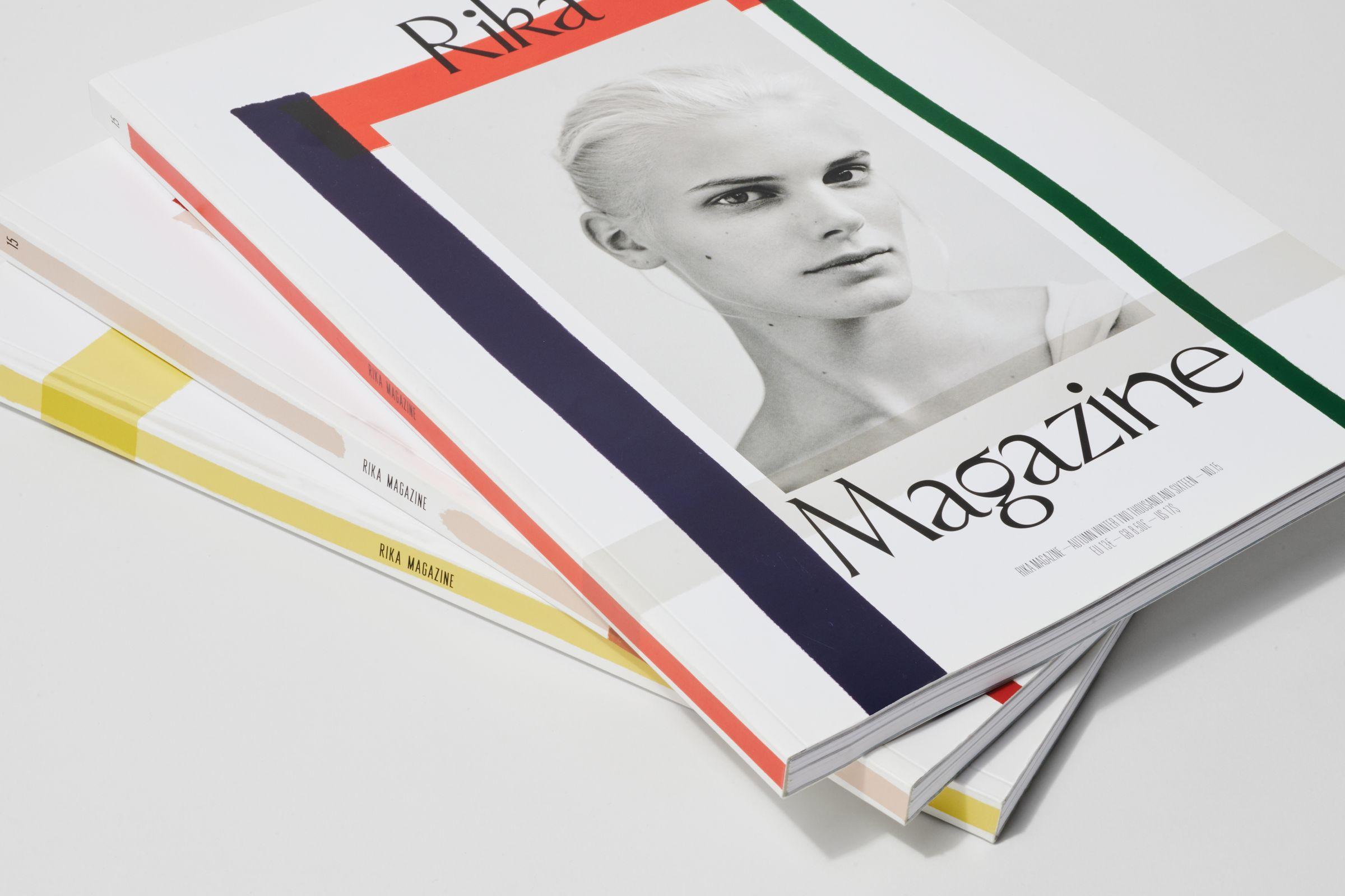 Rika Magazine issue no. 15 cover design
