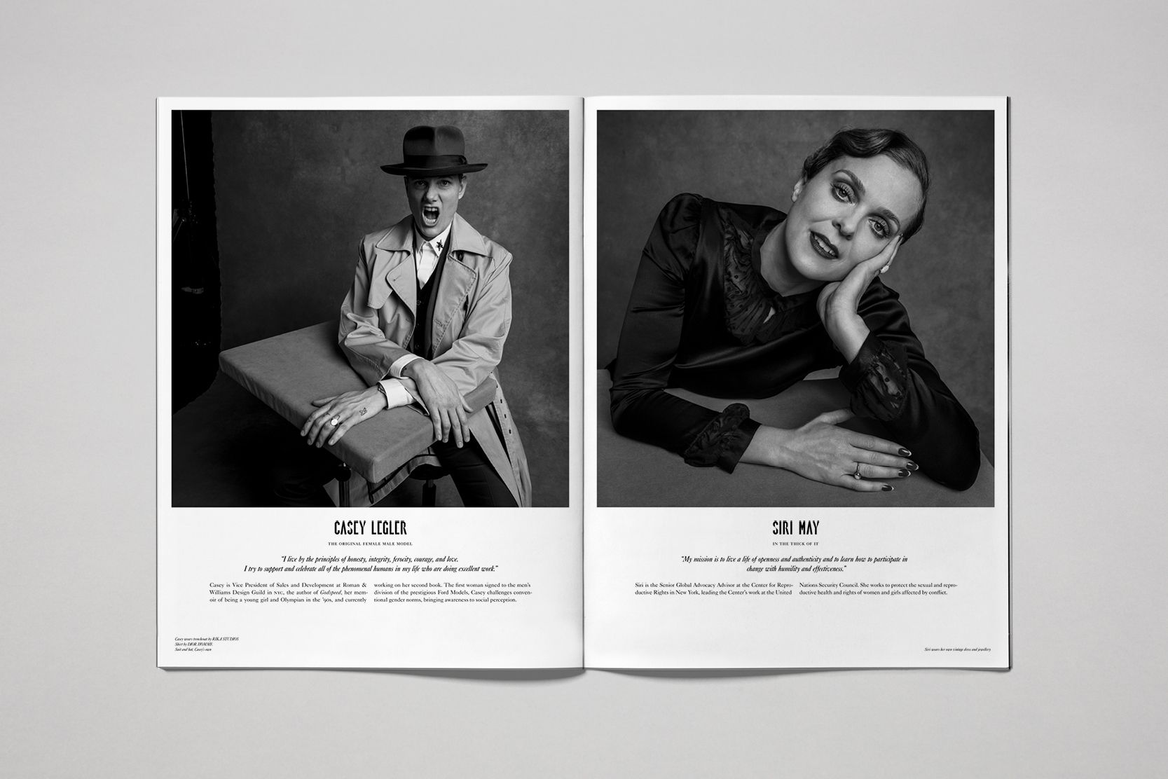 Rika Magazine issue no. 19 Casey Legler and Siri May photographed by Inez & Vinoodh