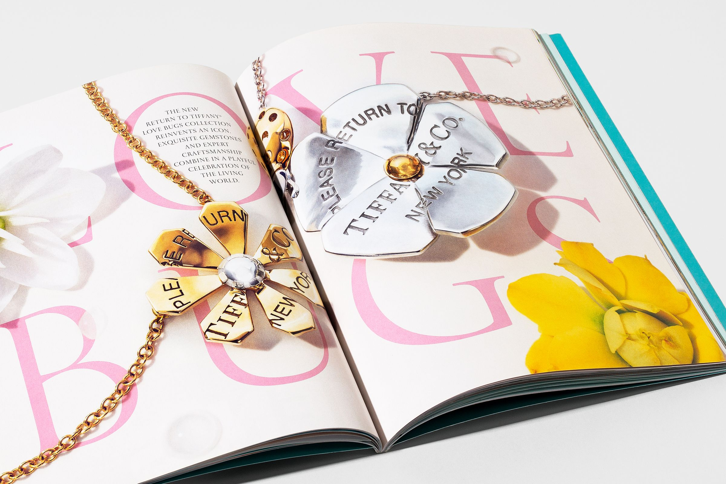 This is Tiffany magazine issue 9 spread design for Love Bugs