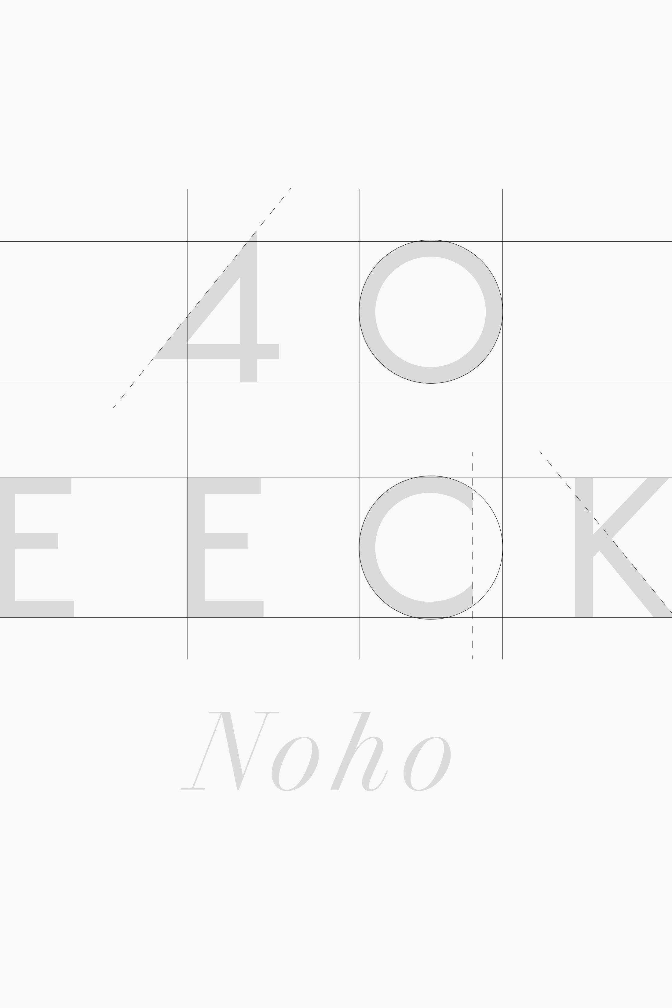 40 Bleecker logo design detail