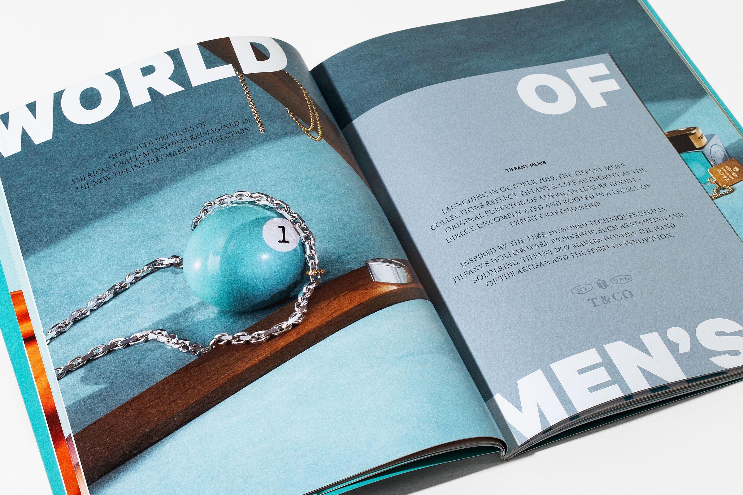 This is Tiffany magazine issue 9 spread design men's accessories