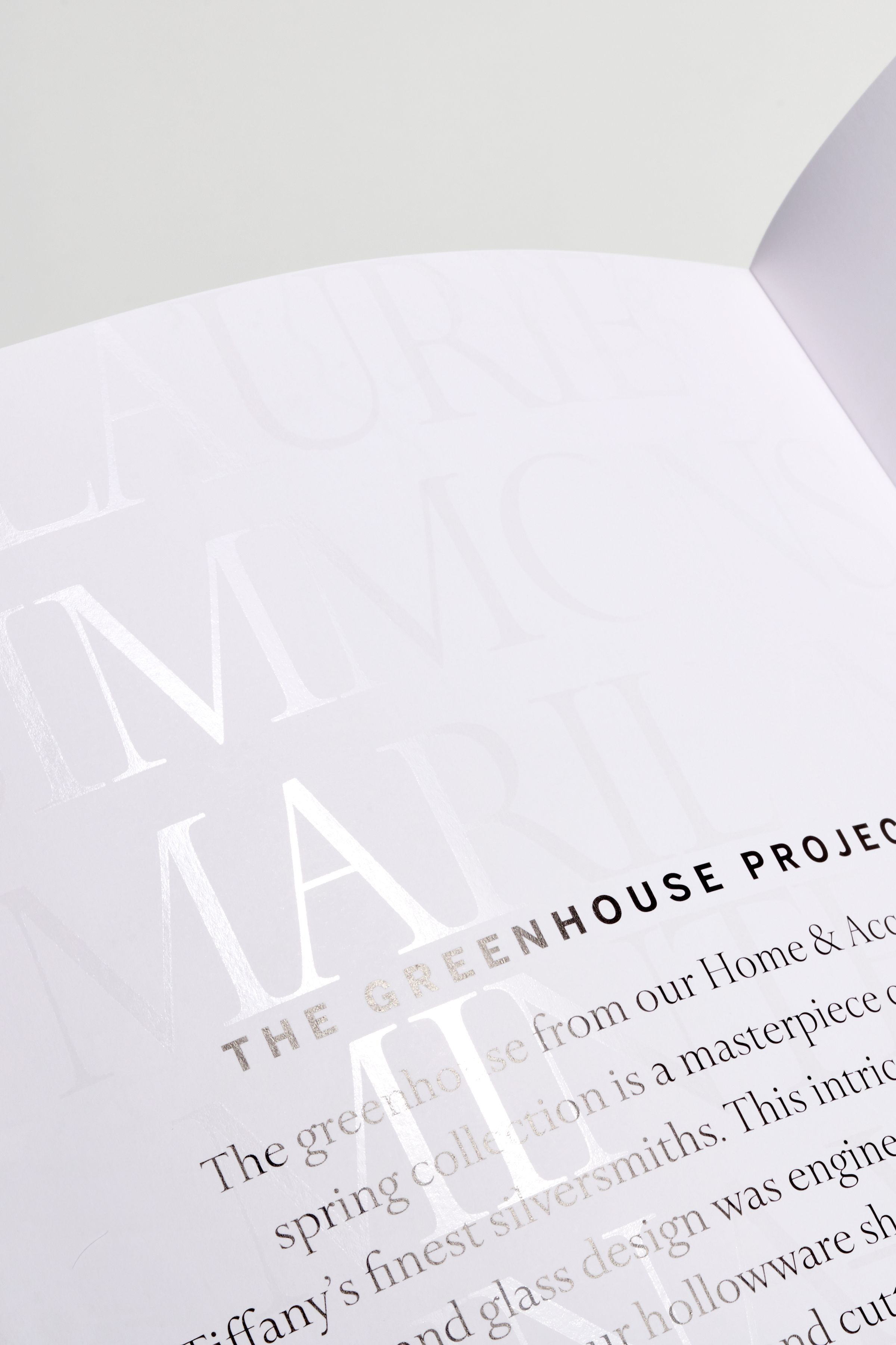 This is Tiffany spot gloss typography design
