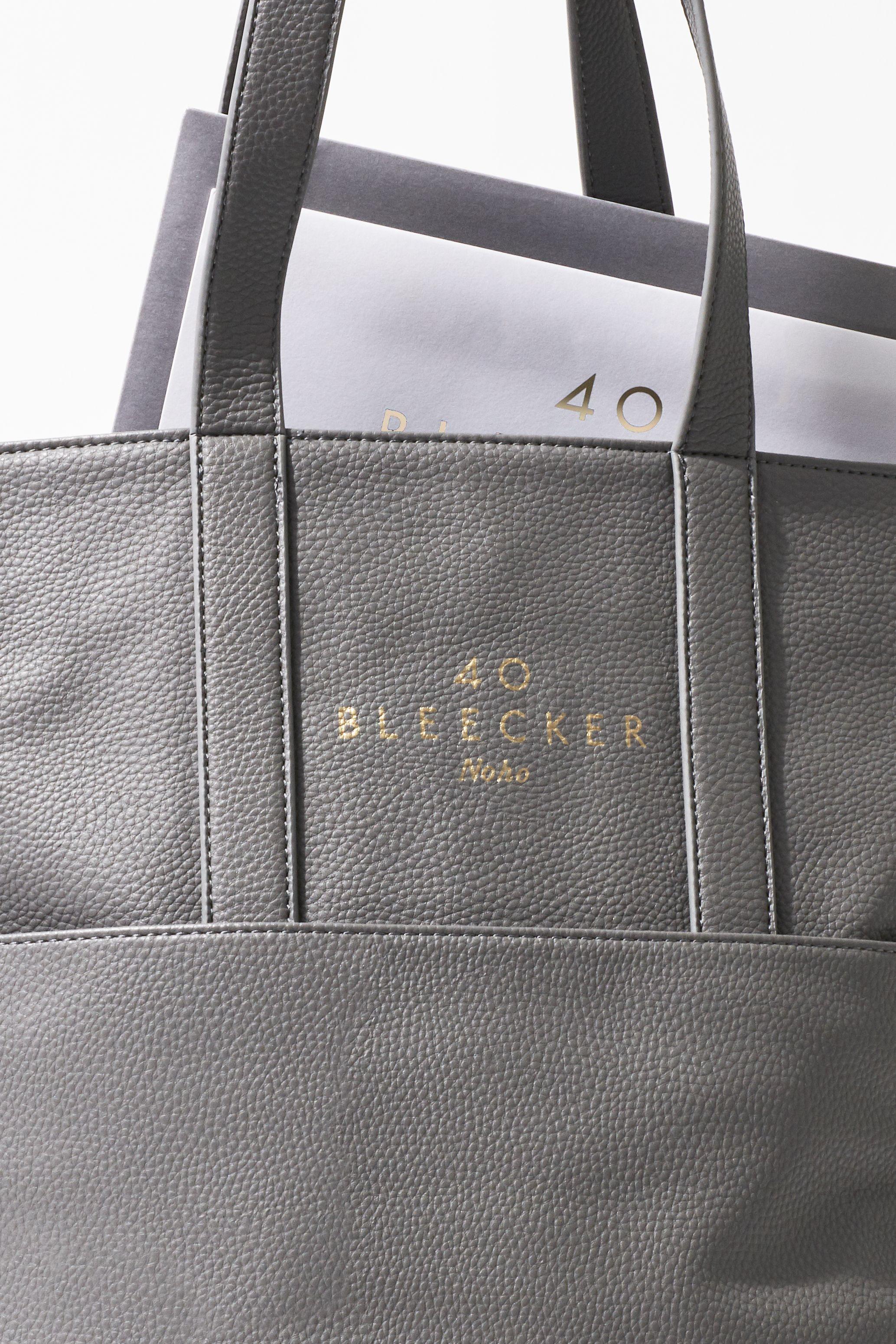 40 Bleecker marketing tote bag design