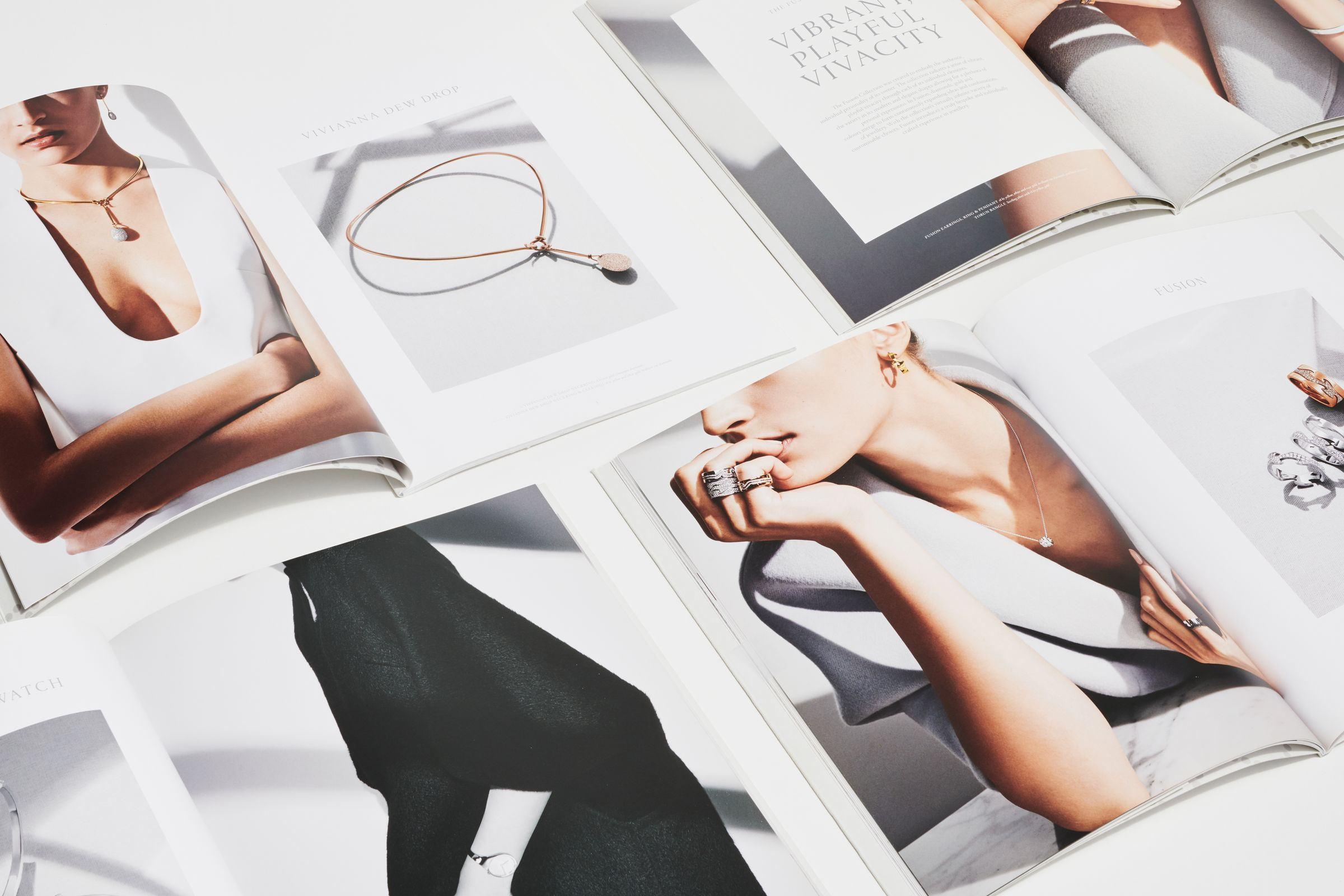 Georg Jensen catalog designs with campaign photography