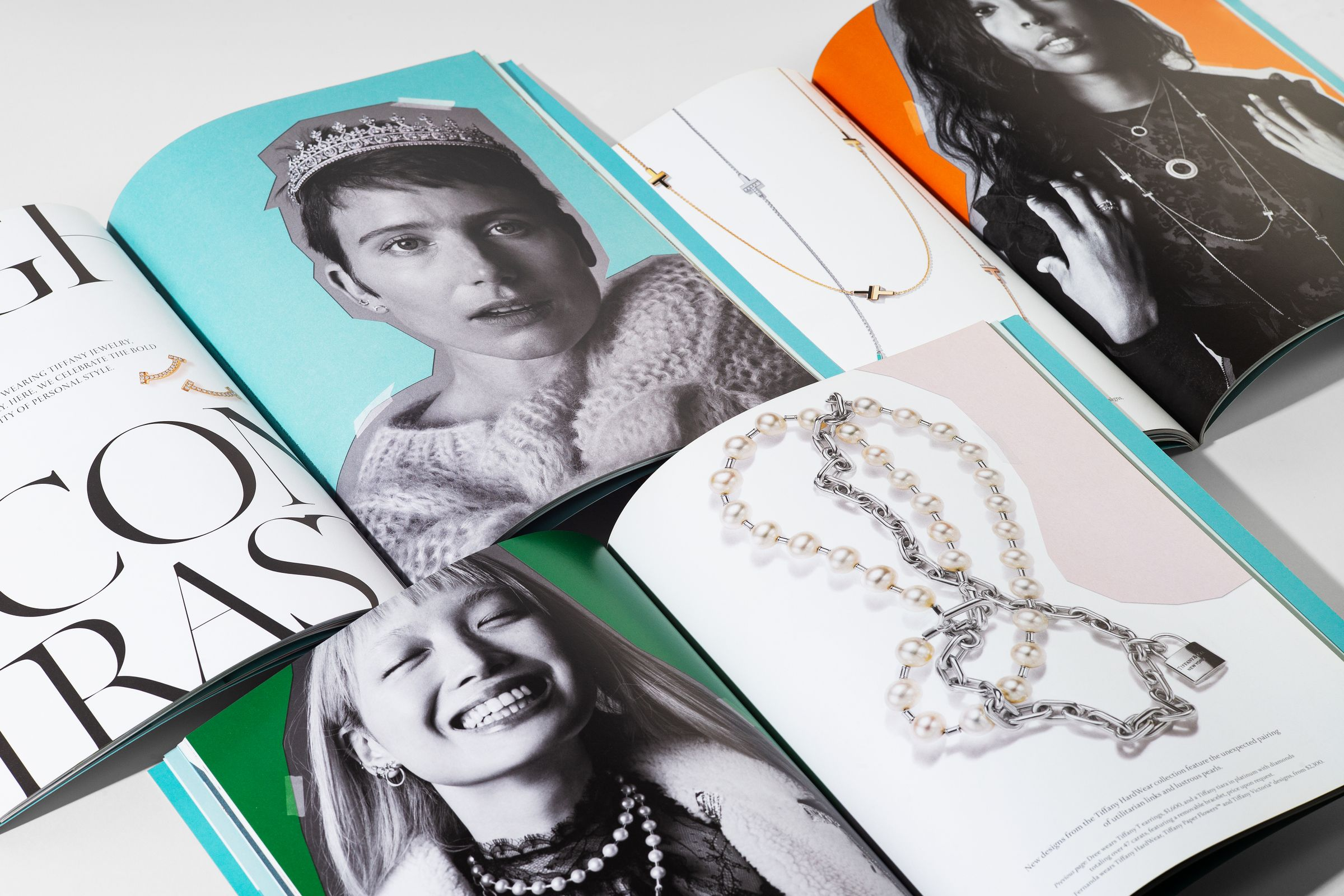 This is Tiffany magazine issue 9 spread designs