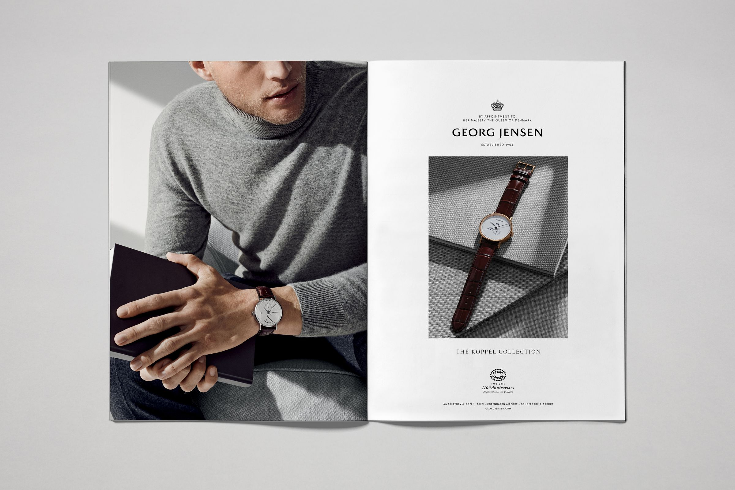 Georg Jensen men's watches campaign photographed by Hasse Nielsen and Toby McFarlan Pond