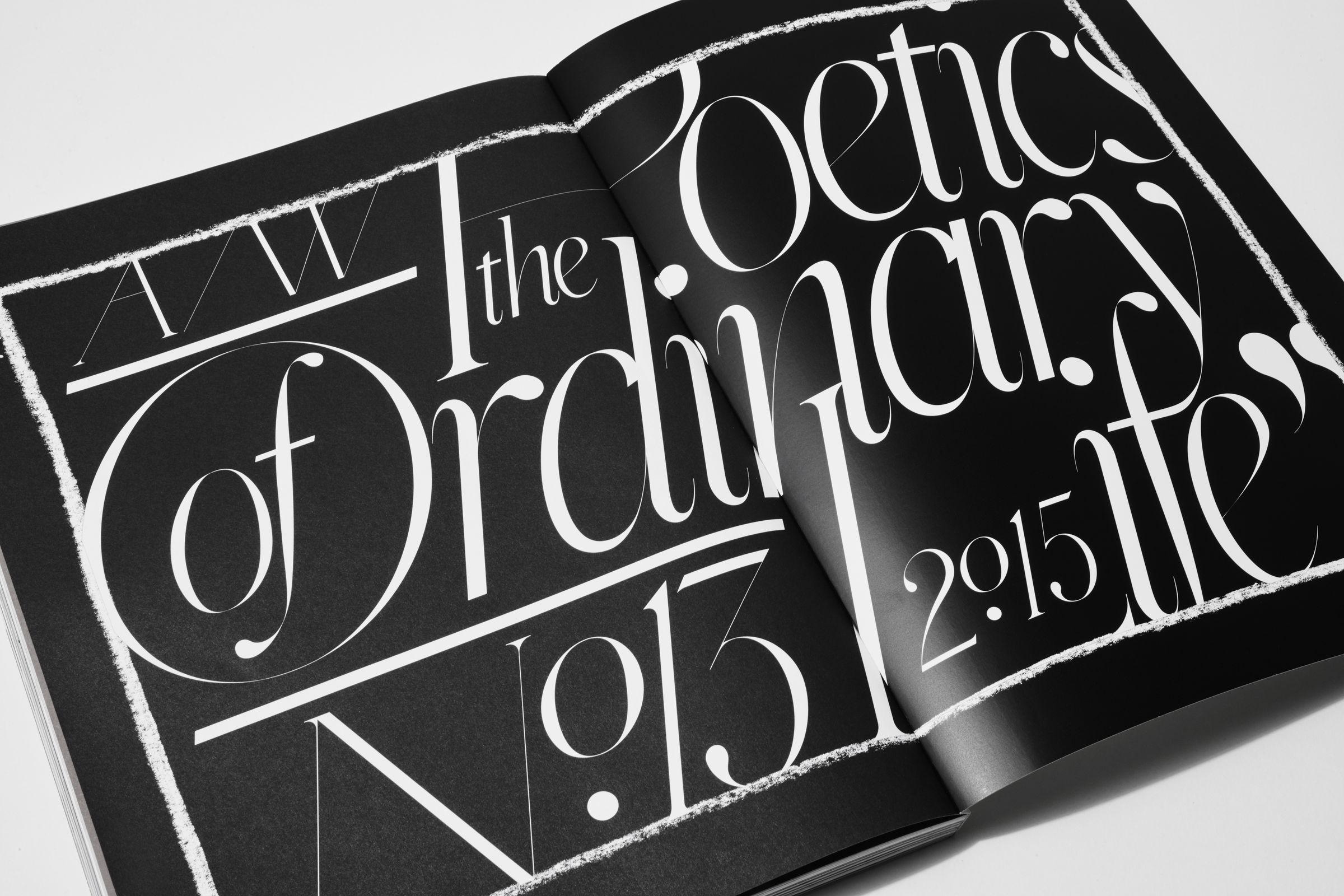 Rika Magazine issue no. 13 custom typography