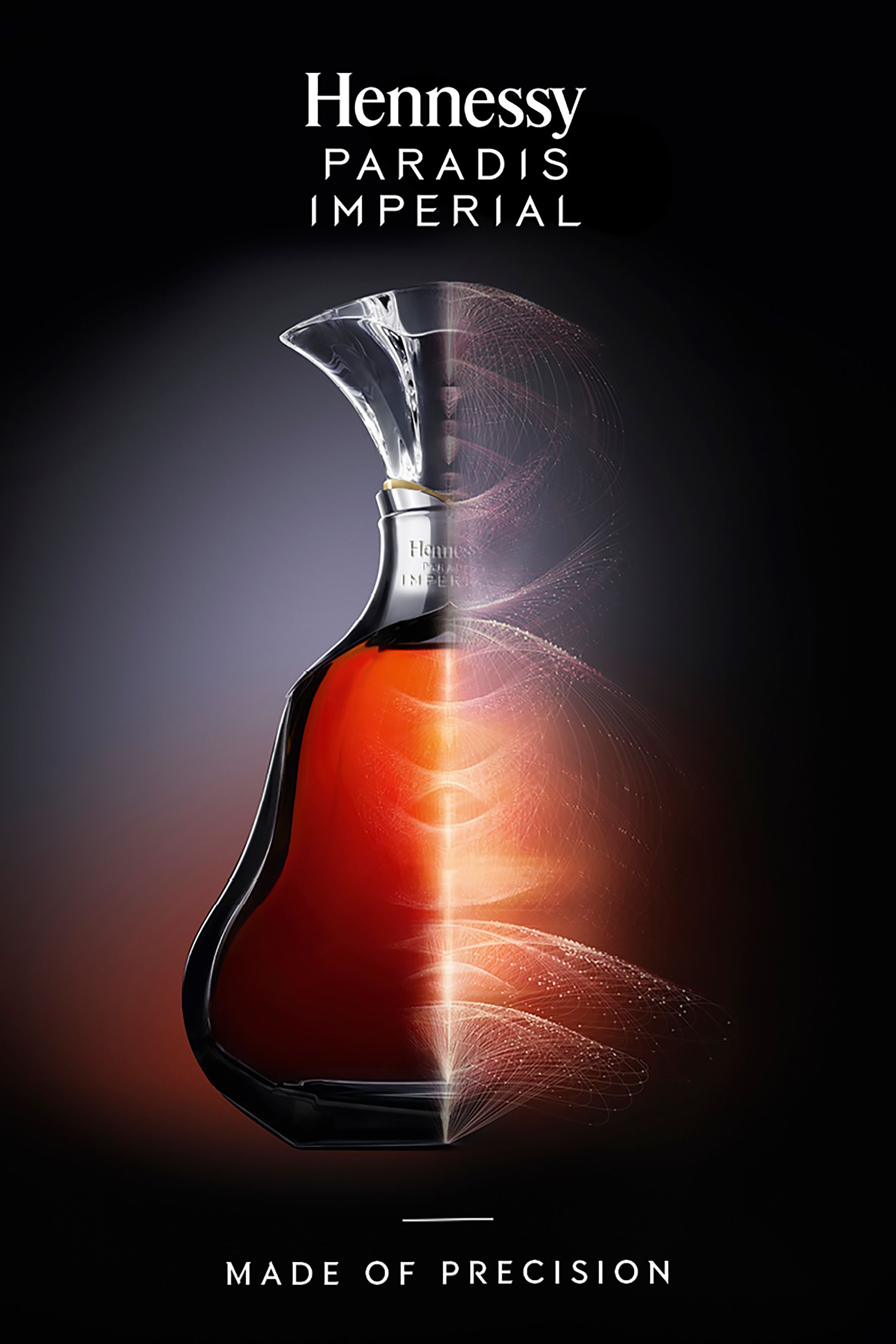 Hennessy Paradis Impérial campaign with logo applied