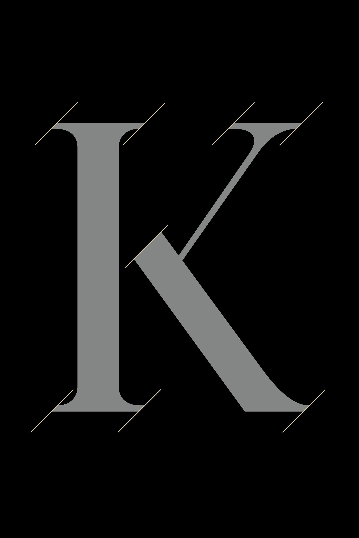 Hennessy custom serif typeface font design detail