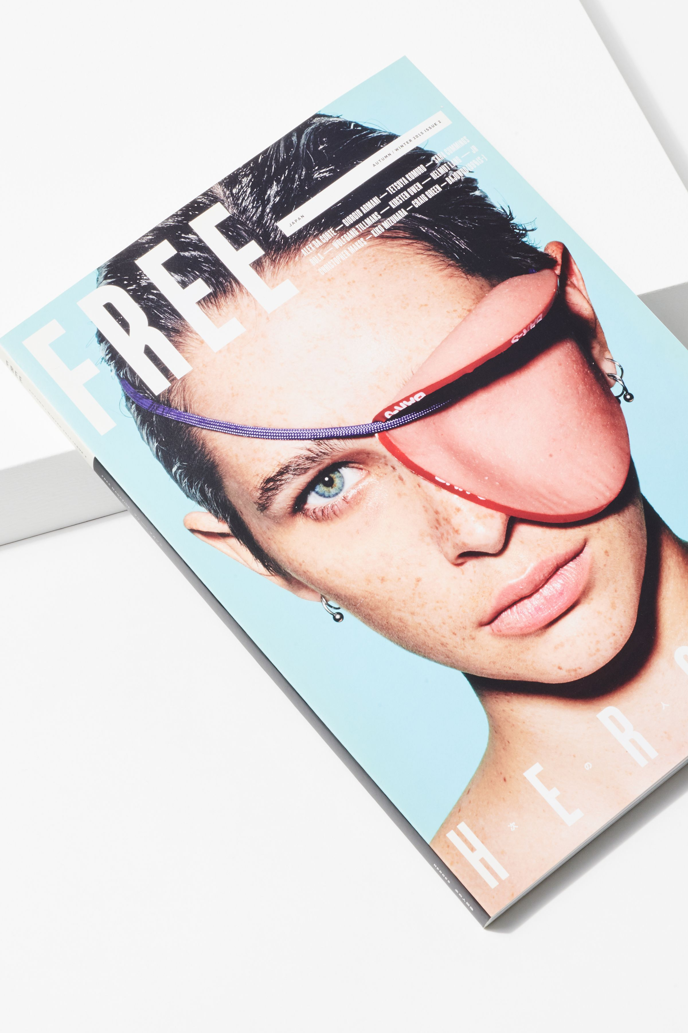 Free Magazine issue 2 cover with photography by Richard Burbridge
