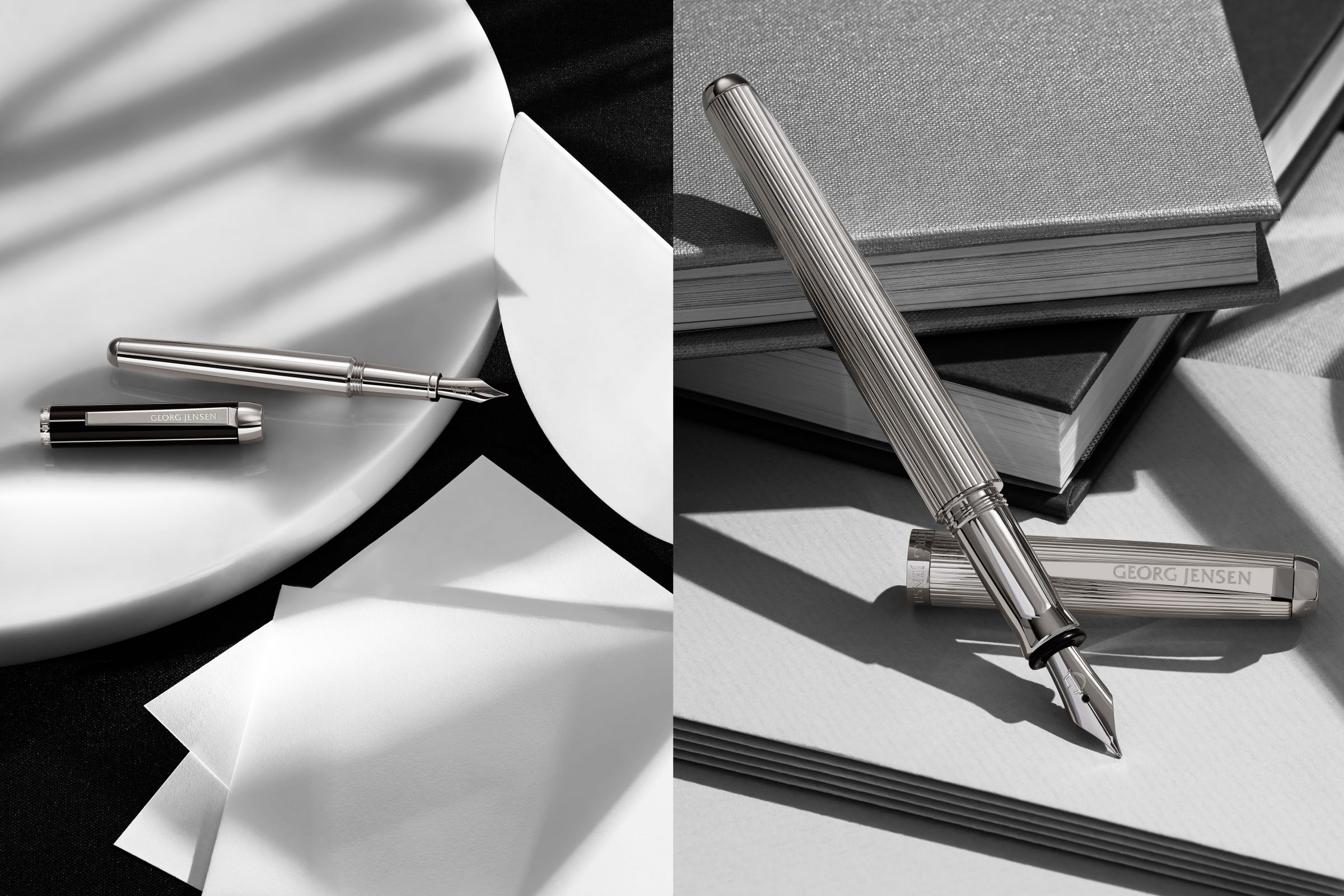Georg Jensen still-life of ink pens photographed by Toby McFarlan Pond