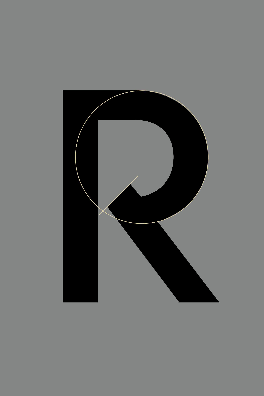 Hennessy custom sans-serif typeface font design detail