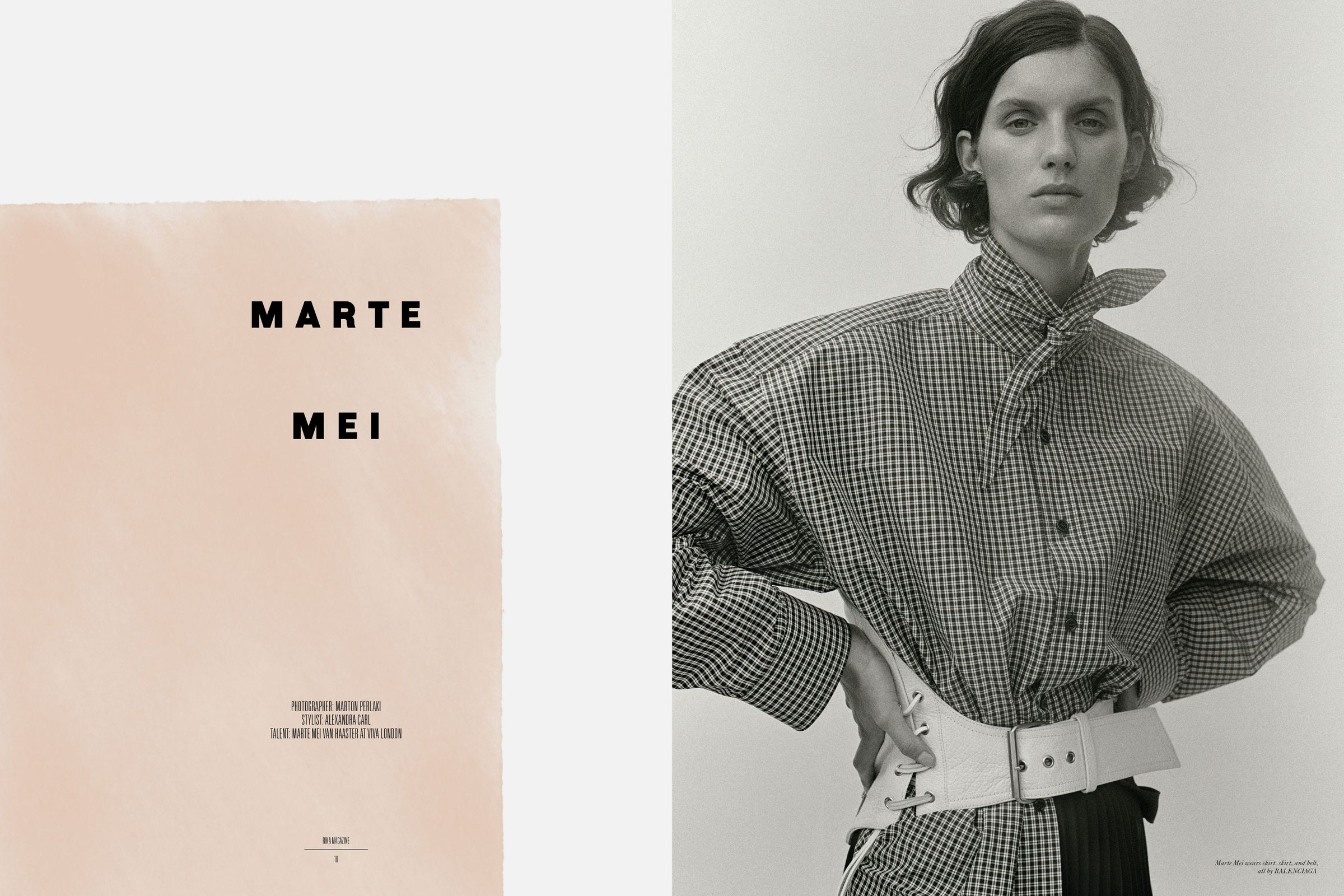 Rika Magazine issue no. 16 Marte Mei van Haaster photographed by Marton Perlaki