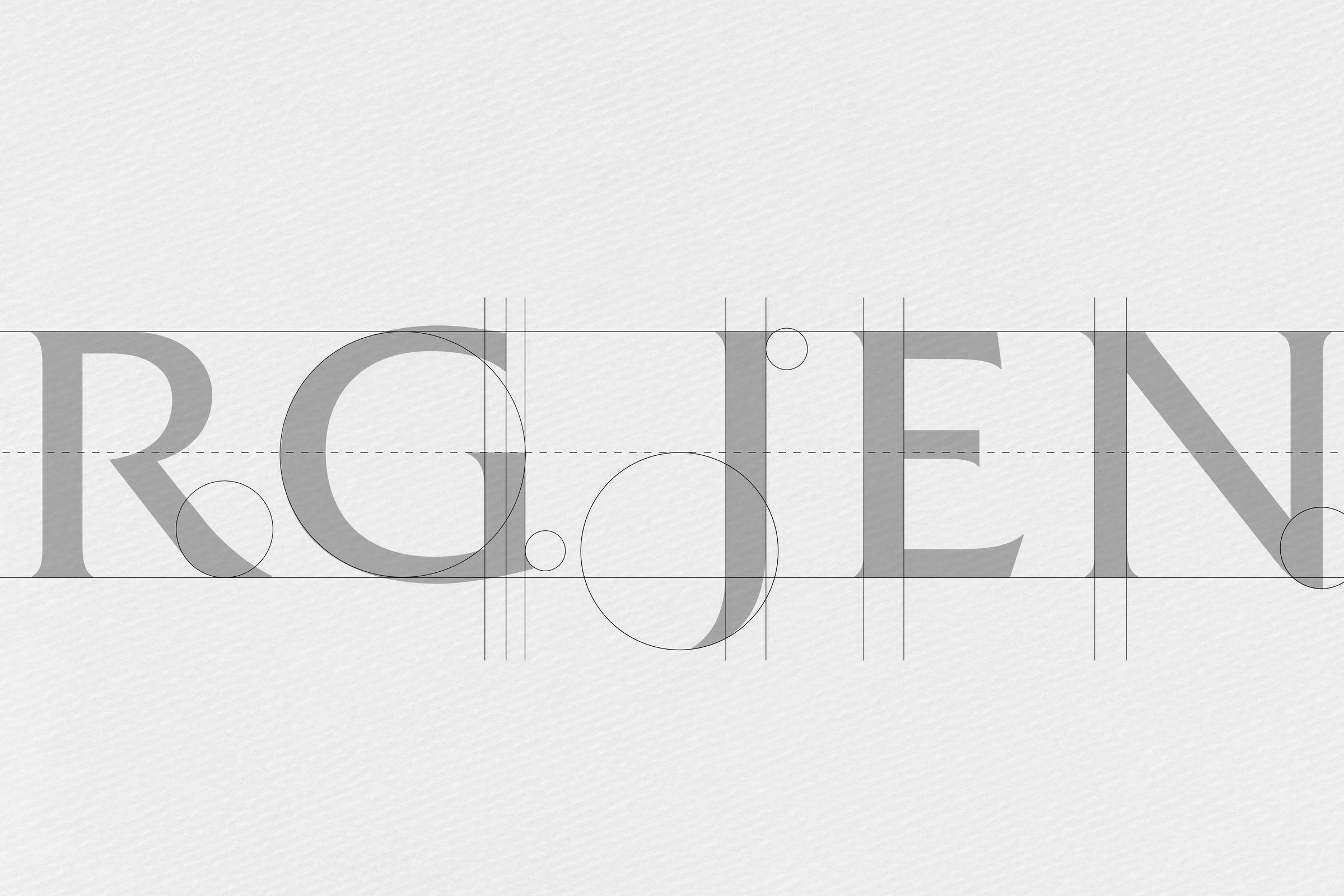 Georg Jensen logo typography geometry detail