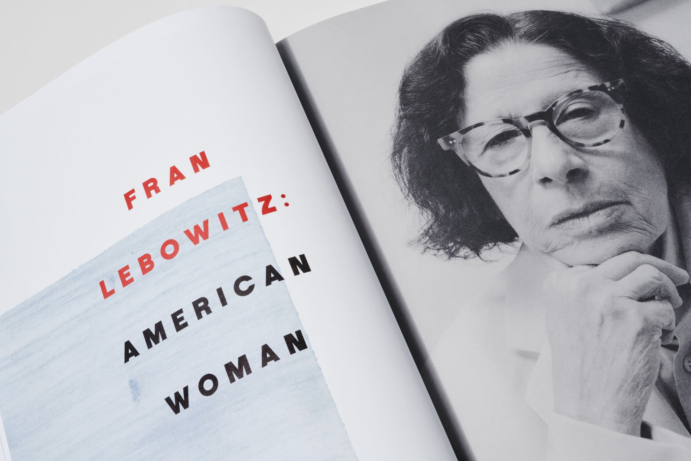 Rika Magazine issue no. 16 Fran Lebowitz photographed by Coco Capitan