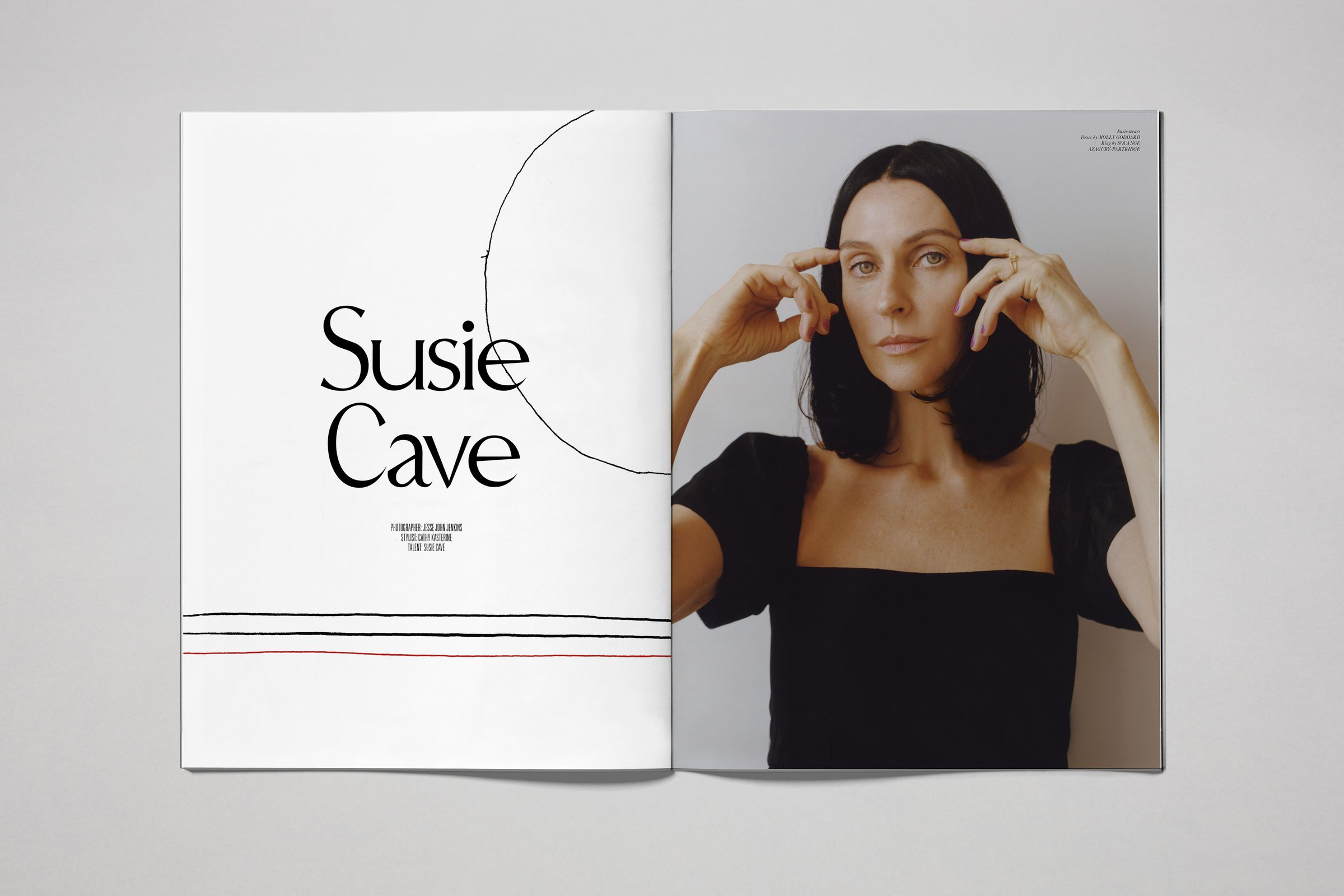 Rika Magazine issue no. 15 Susie Cave photographed by Jesse John Jenkins
