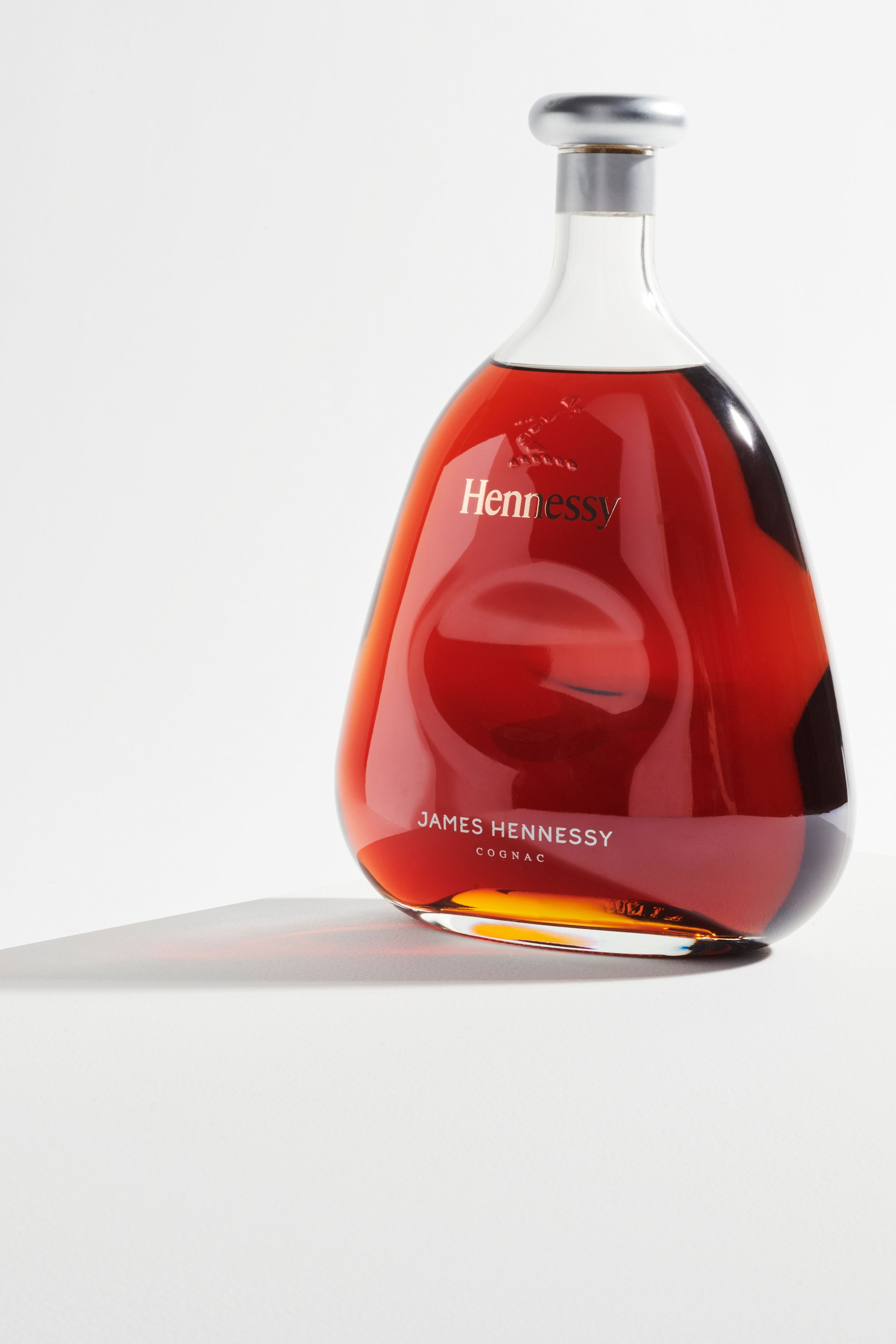 James Hennessy logo applied to bottle