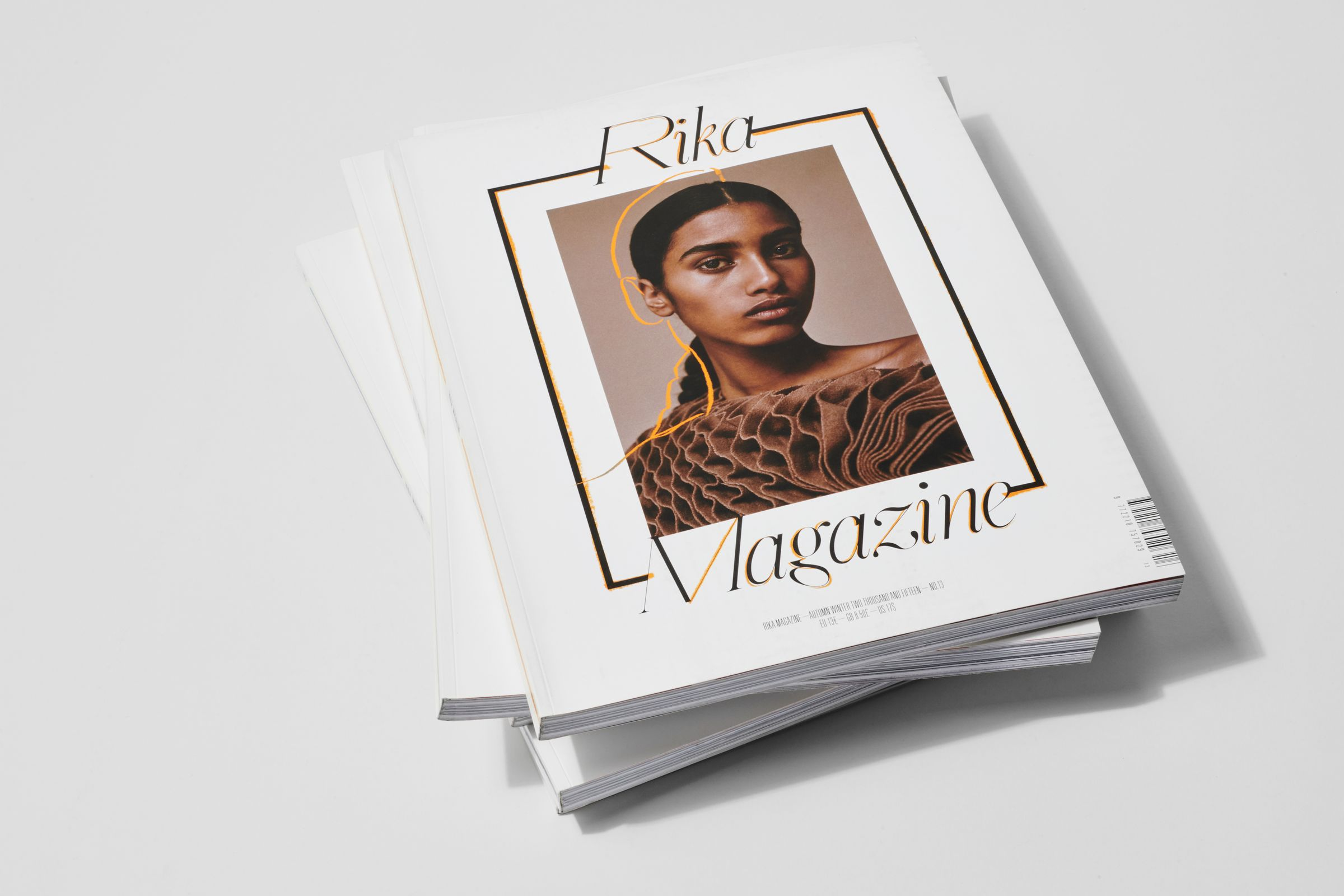 Rika Magazine issue no. 13 cover featuring Imaan Hammam photographed by Charlotte Wales