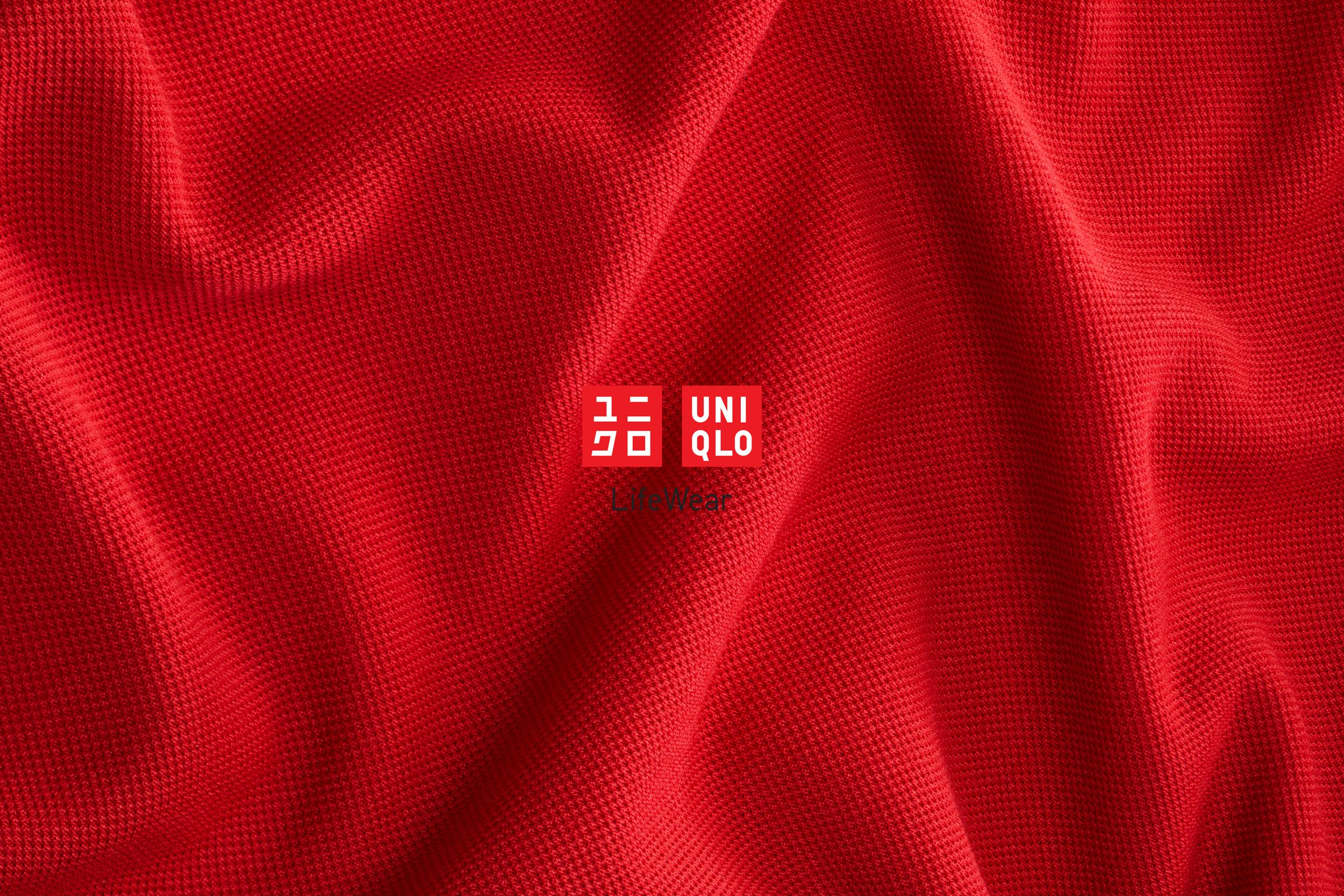 Uniqlo fabric image with logo