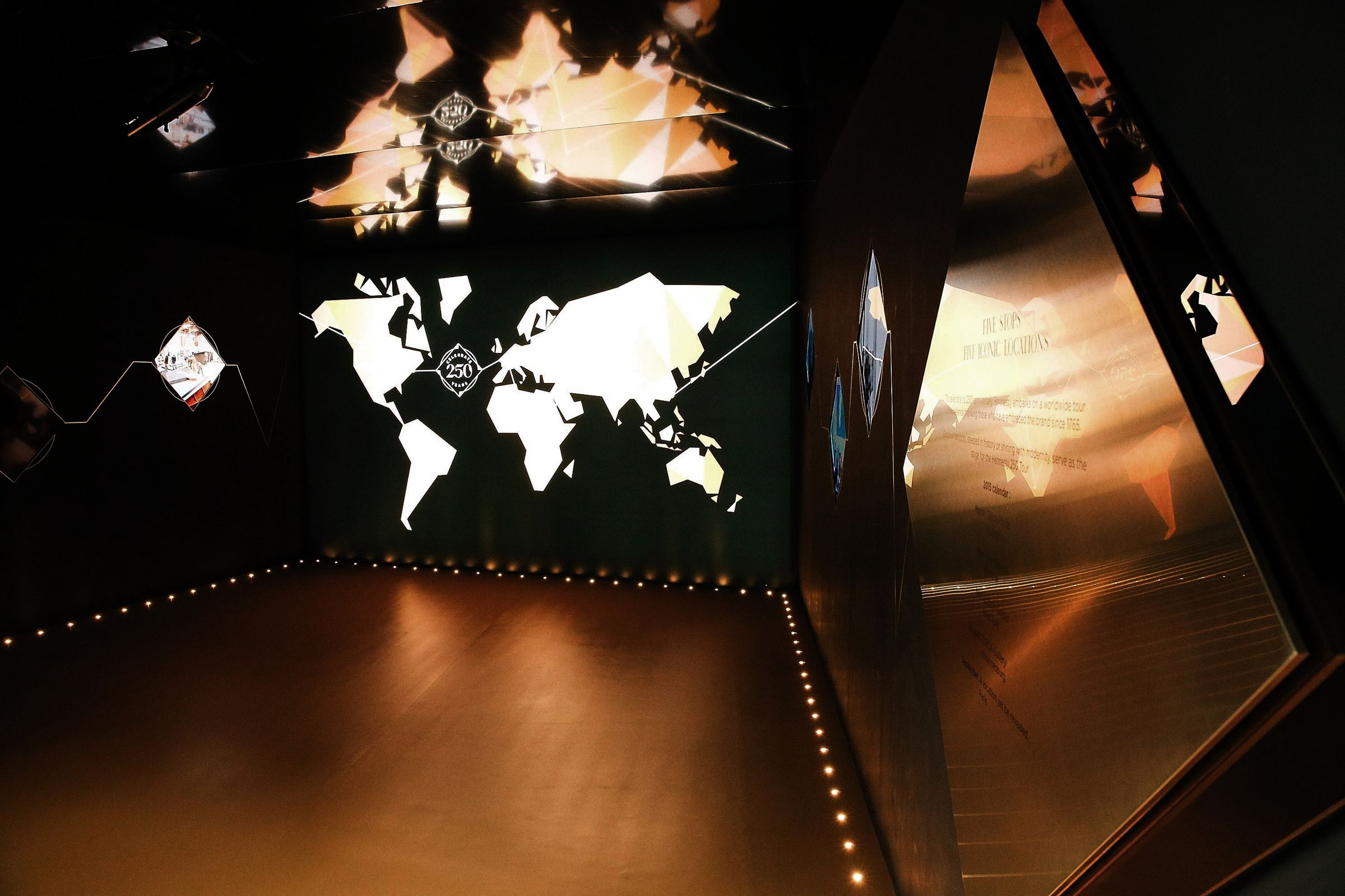 Hennessy 250th anniversary tour installation