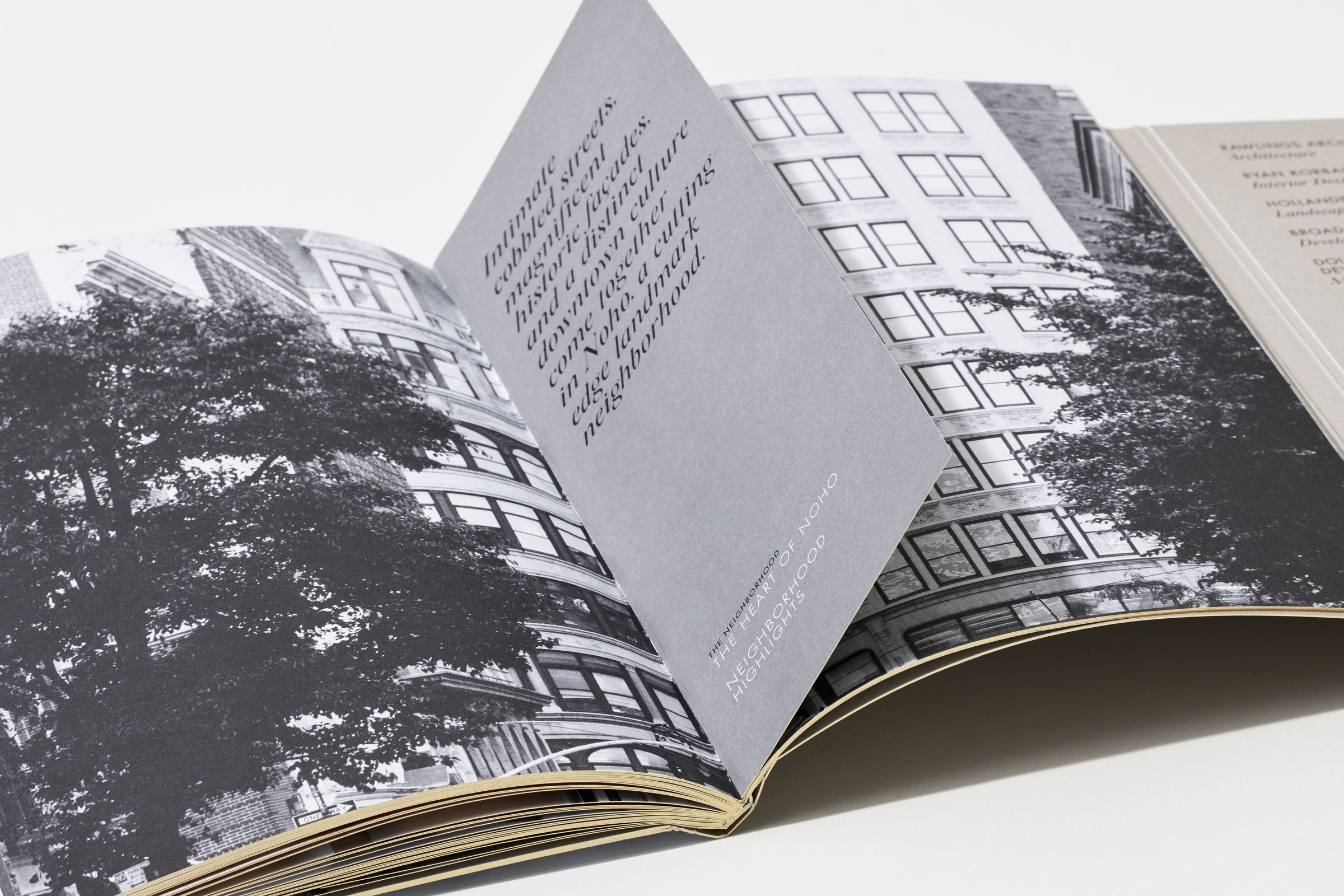 40 Bleecker marketing materials open book