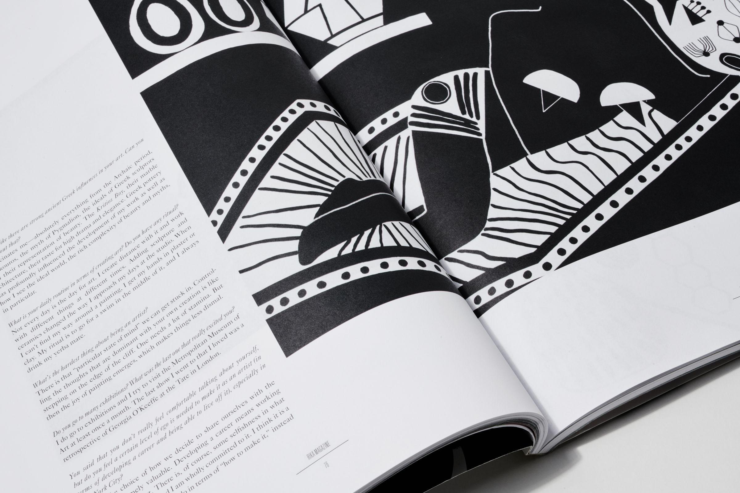 Rika Magazine issue no. 15 spread detail