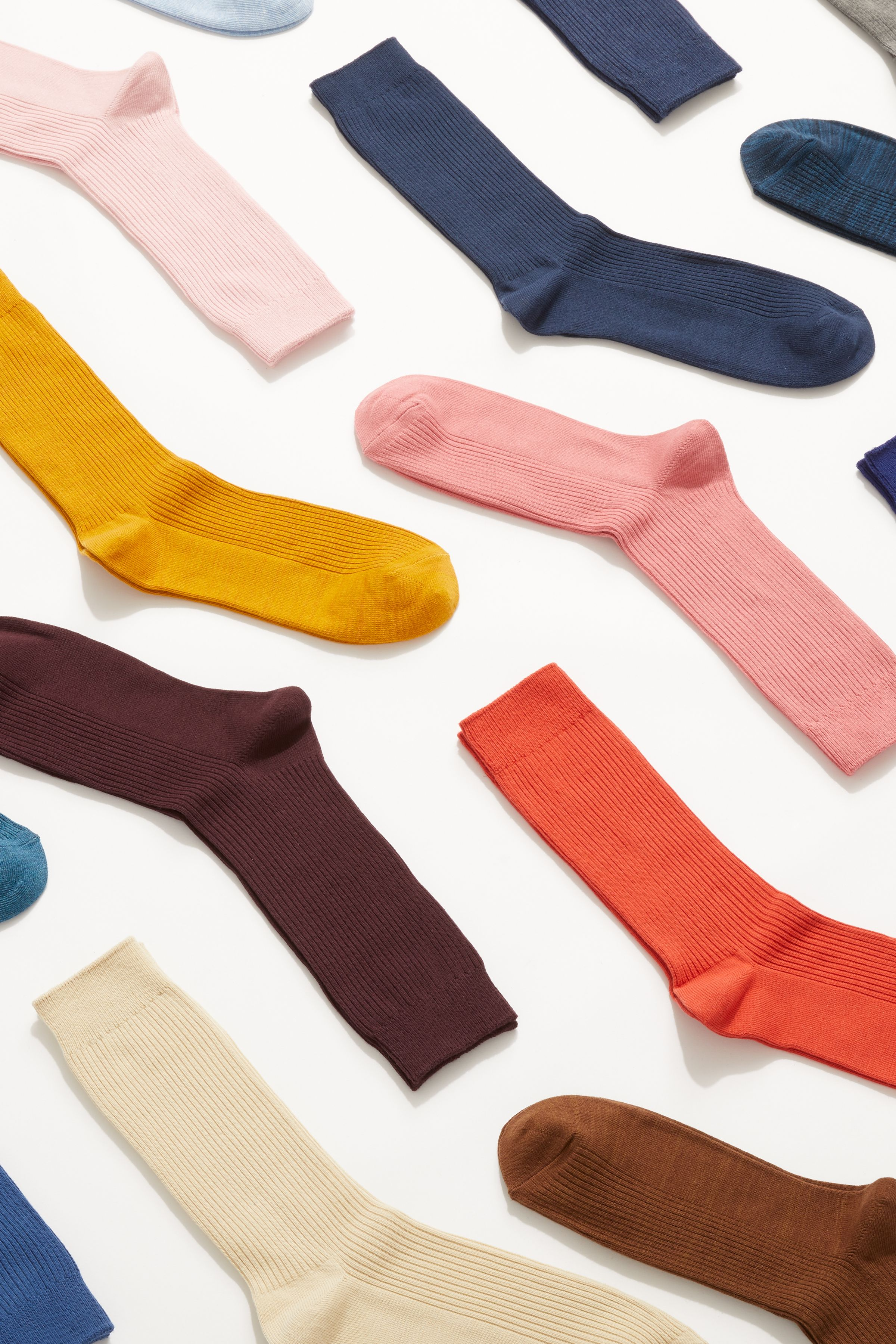 Uniqlo laydown still life art direction socks