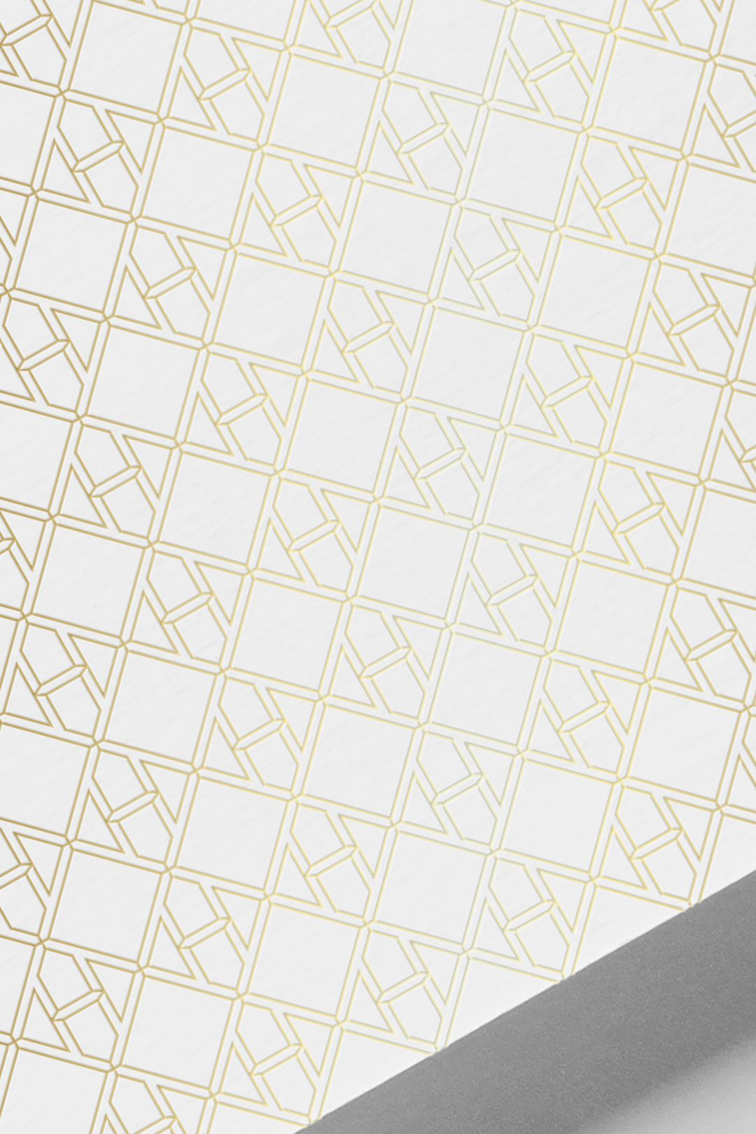 Hennessy H pattern applied in gold foil to paper