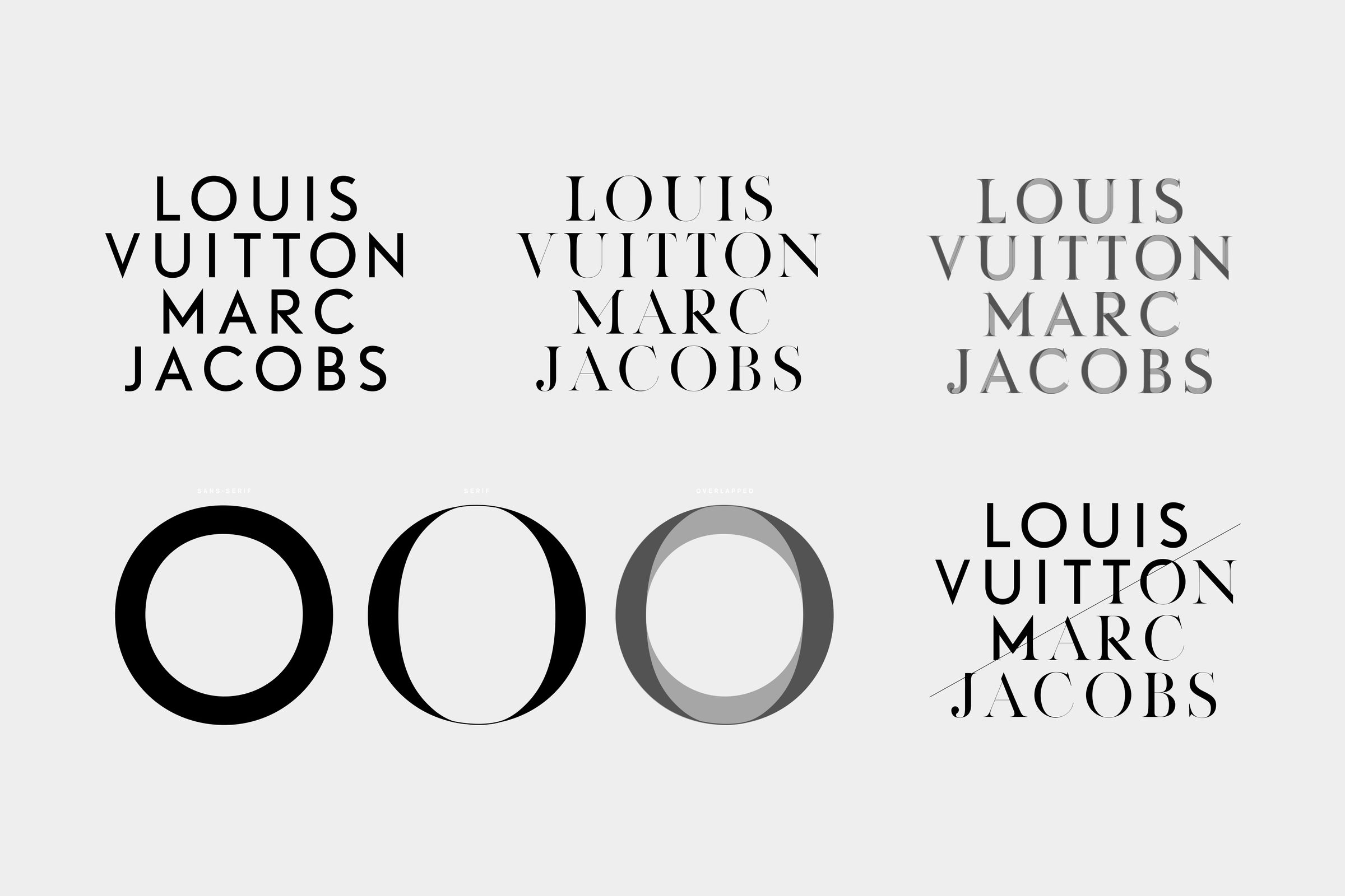 Louis Vuitton Marc Jacobs book custom typography fonts