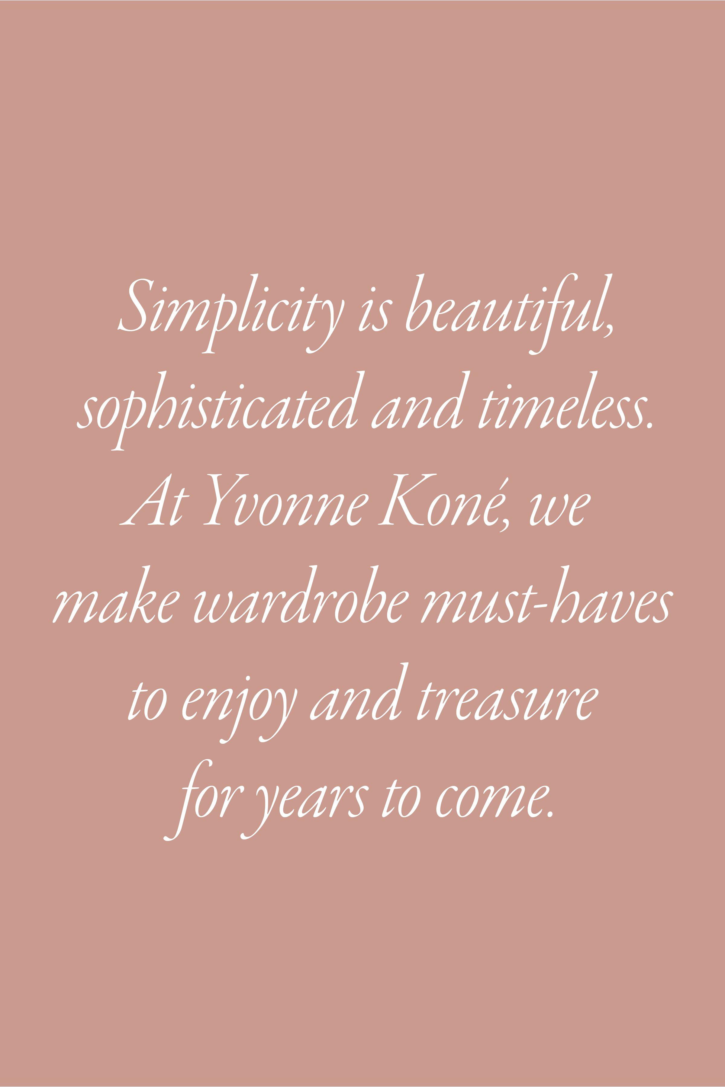 Yvonne Koné Simplicity is beautiful