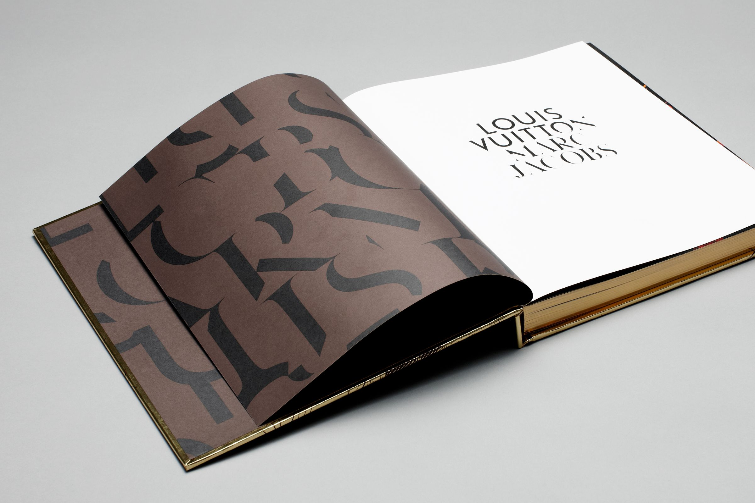 Louis Vuitton Marc Jacobs book with custom typography pattern